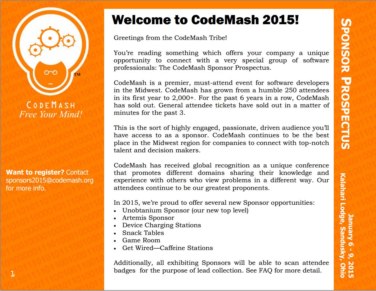 CM2015-Prospectus Cover - CodeMash